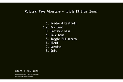 Colossal Cave Adventure - Icicle Edition by Cheeseness