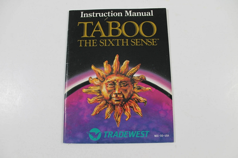Manual - Taboo The Sixth Sense - Nes Nintendo Fortune Telling