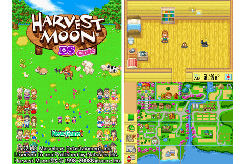 Download harvest moon DS and DS cute Full Version