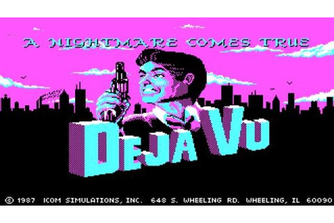 Deja Vu gameplay (PC Game, 1985) - YouTube