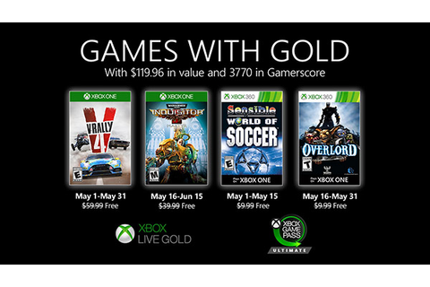 Xbox Live Gold free games for May 2020 announced - Gematsu