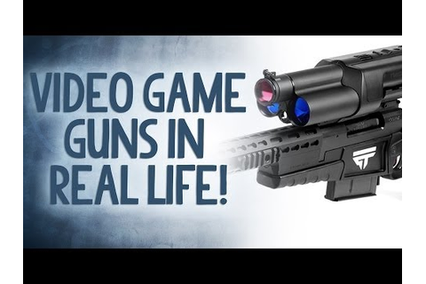 Video Game Guns in Real Life! - Reality Check - YouTube
