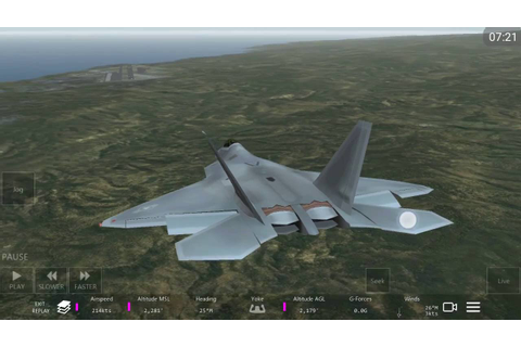 Infinite Flight Lockheed F-22 flight simulator game play ...