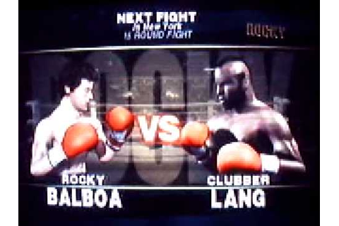 Rocky Balboa game (NGC) Vs Clubber Lang - YouTube