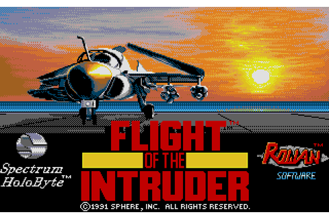 Flight of the Intruder (1991) by Rowan Software Amiga game