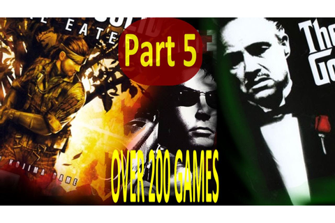 TOP PS2 GAMES -OVER 200 GAMES- (PART 5 of 5) - YouTube