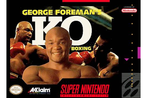 George Foreman's KO Boxing SNES Super Nintendo