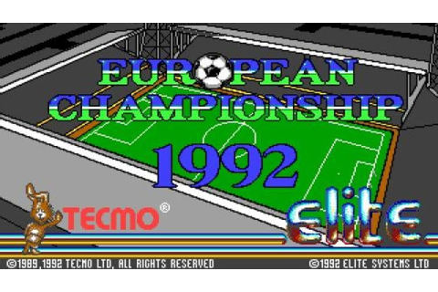European Championship 1992 gameplay (PC Game, 1992) - YouTube