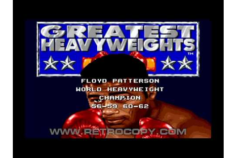 Greatest Heavyweights (Sega Genesis / Mega Drive) Intro ...