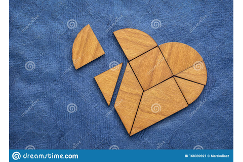 Wooden Heart Tangram Puzzle Stock Image - Image of ...
