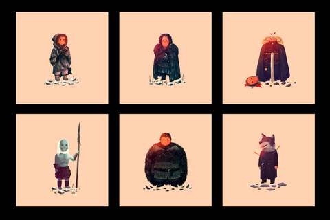 Olly Moss Game of Thrones Prints | The Coolector