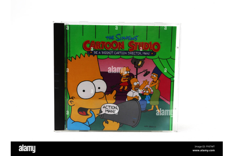 The Simpsons Cartoon Studio Computer Game CD Rom Stock ...