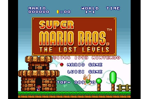 SNES - SUPER MARIO BROS - THE LOST LEVELS *OLD & NEW ...
