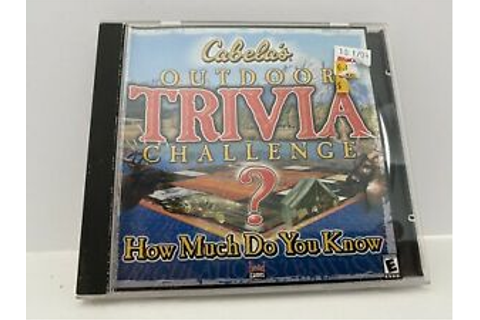 Cabela's Outdoor Trivia Challenge? How Much Do You Know | eBay