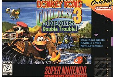 Donkey Kong Country 3 Dixie Kong's Double Trouble Super ...