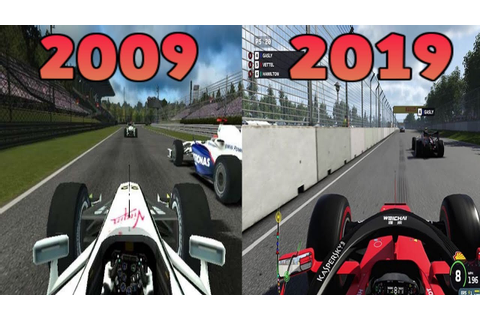 Graphical Evolution of Codemasters' F1 (2009-2019) - YouTube