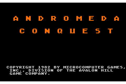 Andromeda Conquest (1982) by Avalon Hill Atari 400/800 game