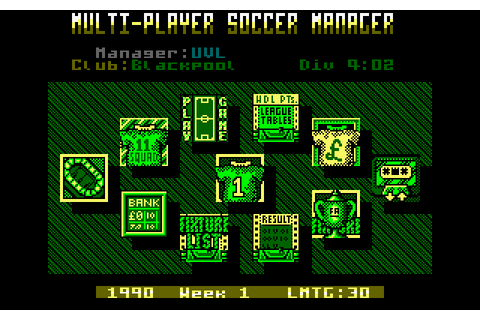 Multi-Player Soccer Manager (1990) Amstrad CPC game