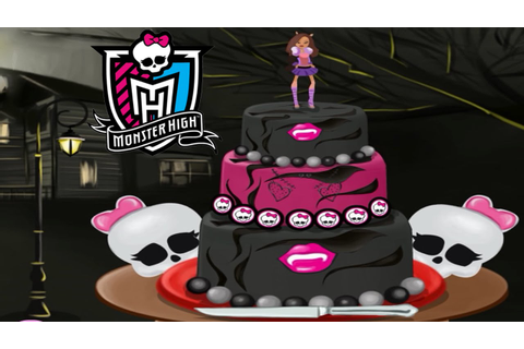 Monster High Cake for Halloween Decorate Game for Girls ...