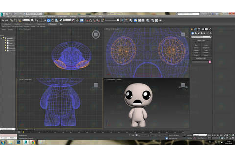 3d model Isaac from the Binding of Isaac game download for ...