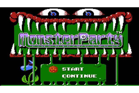 CGRundertow MONSTER PARTY for NES Video Game Review - YouTube