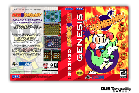 Mega Bomberman GEN Genesis Game Case Box Cover Brand New ...