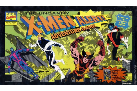 Uncanny X-Men Alert Adventure Board Game (1992 Pressman ...