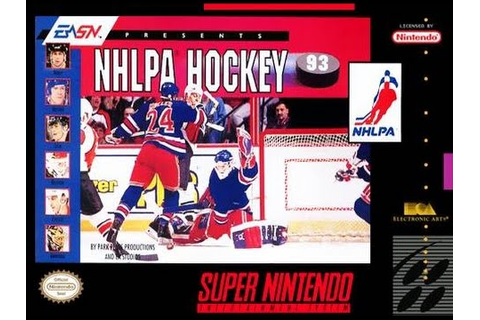 NHLPA Hockey 93 (Super Nintendo) - Game Play - YouTube
