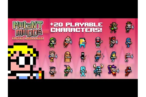 Mutant Mudds Super Challenge - 20 Secret Characters - YouTube