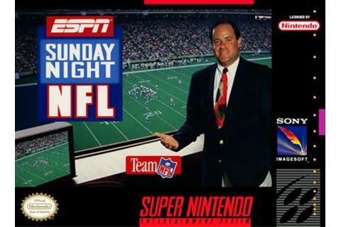 ESPN Sunday Night NFL Details - LaunchBox Games Database