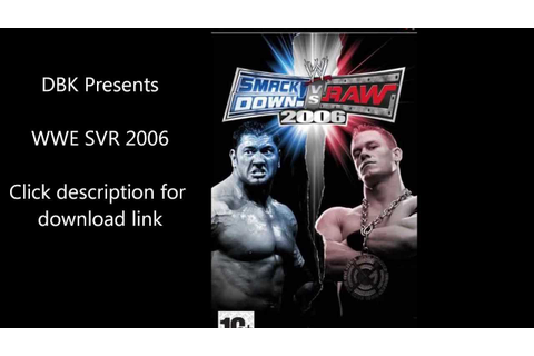 WWE SmackDown vs Raw 2006 PSP FREE DOWNLOAD - YouTube