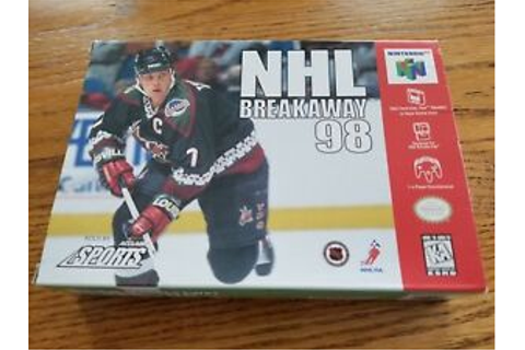 NHL Breakaway 98 - Game and Box Only (Nintendo 64, 1998 ...