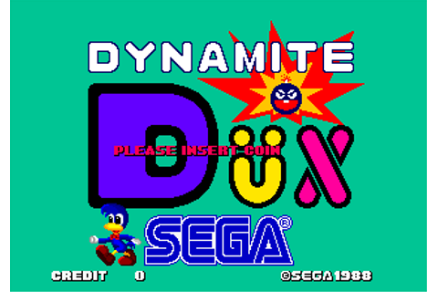 Dynamite Düx arcade video game by SEGA Enterprises (1988)