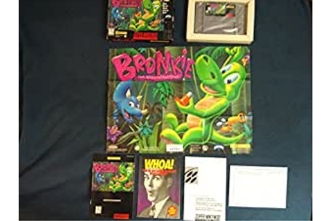 Amazon.com: Bronkie The Bronchiasaurus SNES: Video Games