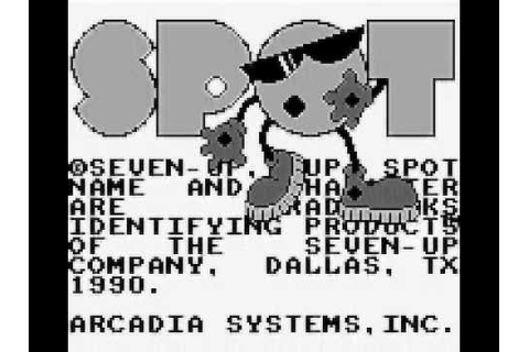 Spot : The Video Game (GAME BOY - INTRO - GAME PLAY - 1990 ...