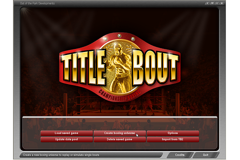 Title Bout Championship Boxing - TB2.5 Manual/Creating a ...