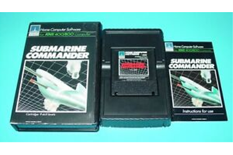 SUBMARINE COMMANDER GAME CARTRIDGE FOR ATARI 400/800/800XL ...