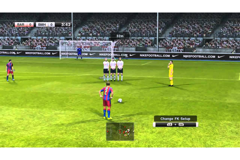 Pro Evolution Soccer 2011 PC Gameplay FC Barcelona vs FC ...