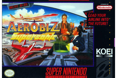 Aerobiz Supersonic SNES Super Nintendo