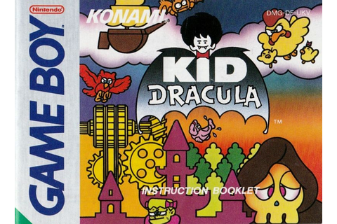 Kid Dracula (1993) Game Boy box cover art - MobyGames