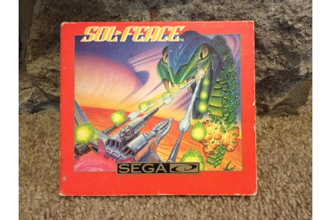 Sol-Feace Sega CD Vintage video game in great condition
