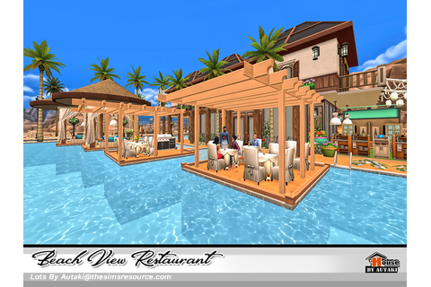 Beach View Restaurant - The Sims 4 Download - SimsDomination
