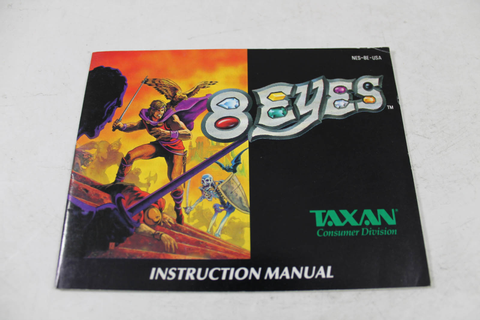 Manual - 8 Eyes - Nes Nintendo