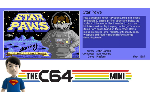 The C64 MINI Games - Star Paws - YouTube