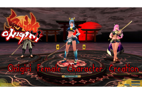 MMORPG Onigiri Beta Female Character Creation - YouTube