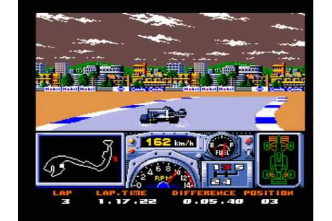 F1 Spirit 3D MSX GAME GAMEPLAY - YouTube