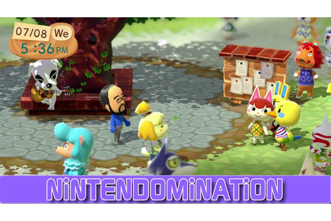 WiiU - Animal Crossing Plaza - First minutes in 1080p ...