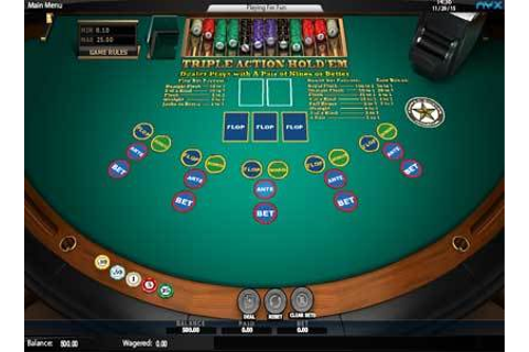 Triple Action HoldEm Poker | Play Triple Action HoldEm Poker Video ...