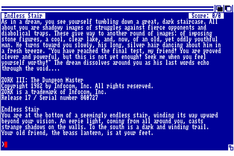 Zork III: The Dungeon Master (1985) by Infocom Amiga game