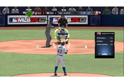 MLB 2k13 R.A. Dickey Perfect Game -Pro level- - YouTube